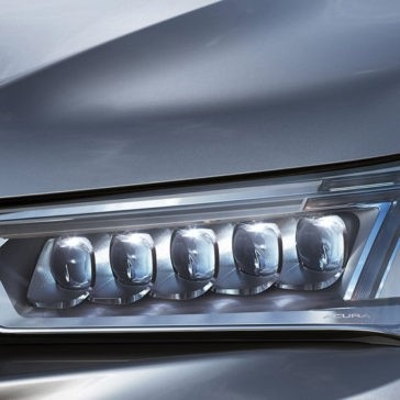 2017 Acura MDX head lights up close