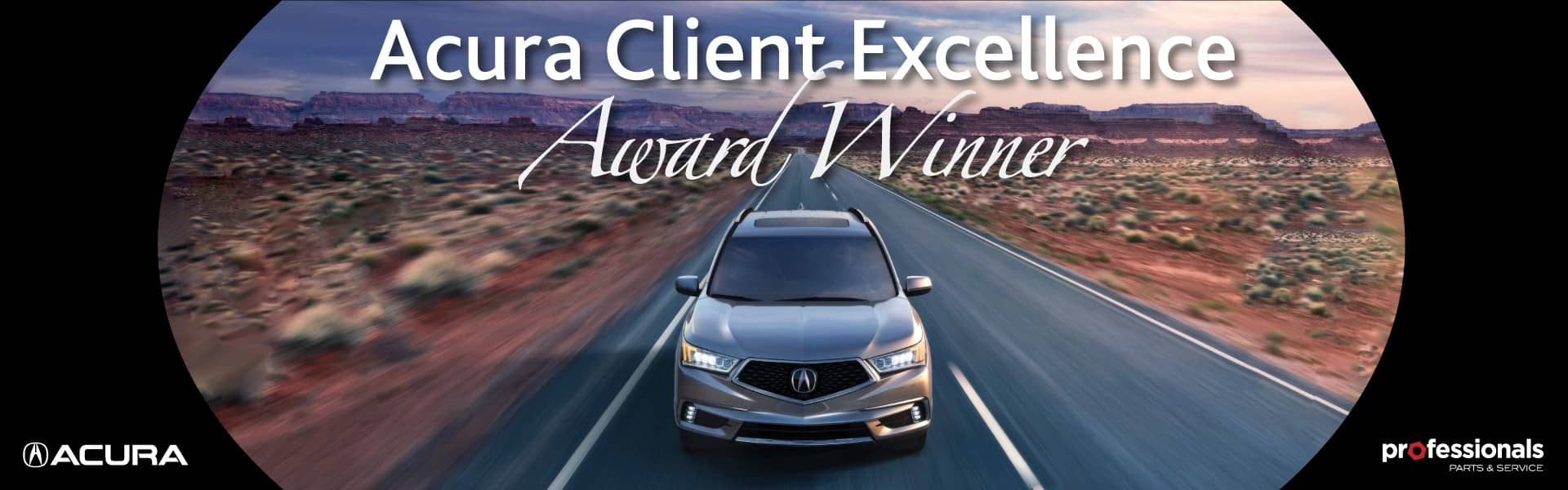 2016 Acura Acura Client Excellence Award Banner