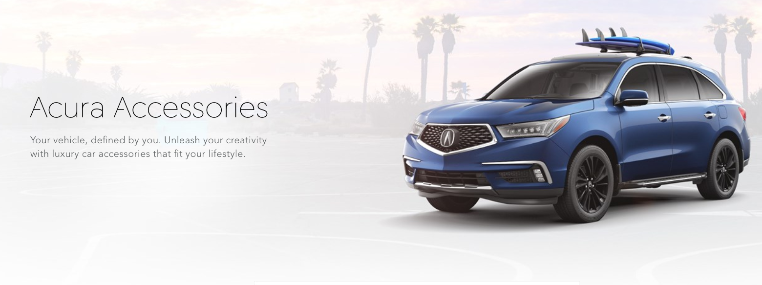 Acura Accessories Banner