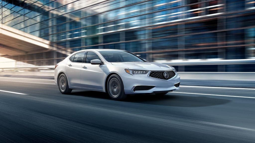 2019 Acura TLX on the road