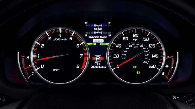 TLX speedometer screen