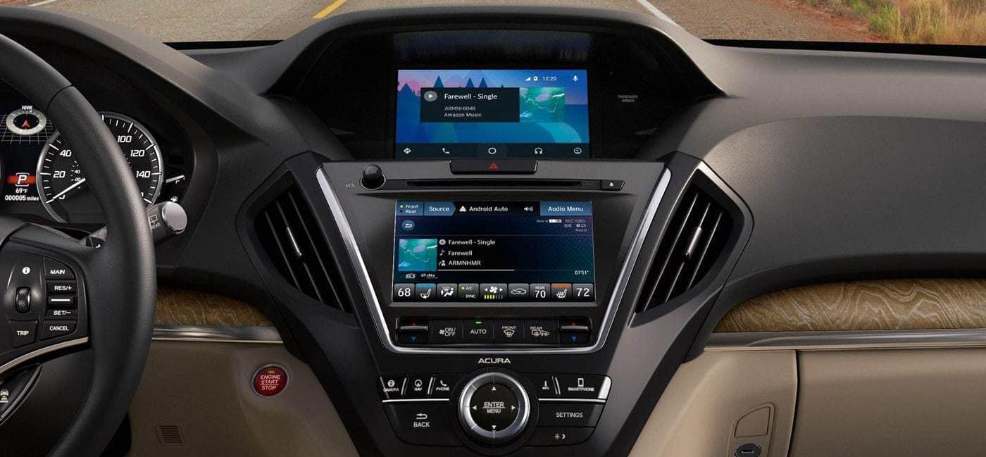 closeup of Acura MDX dashboard