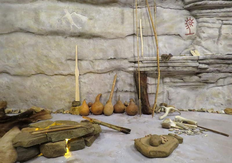 Prehistoric Exhibit at Shiloh Museum of Ozark History