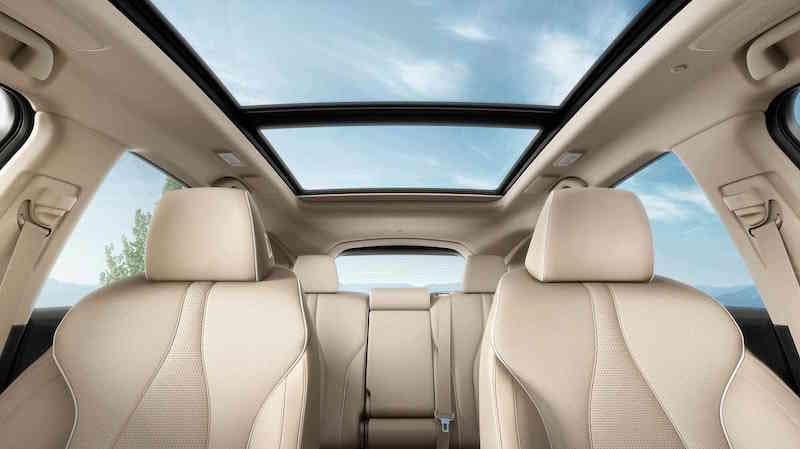 tan RDX interior seating