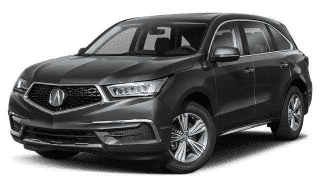 Charcoal Gray 2019 Acura MDX Sidefaced