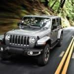 2019 Jeep Wrangler on road thumbnail