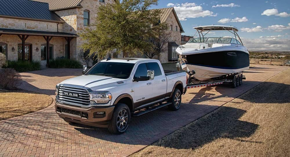 2019 Ram 2500 tows a boat