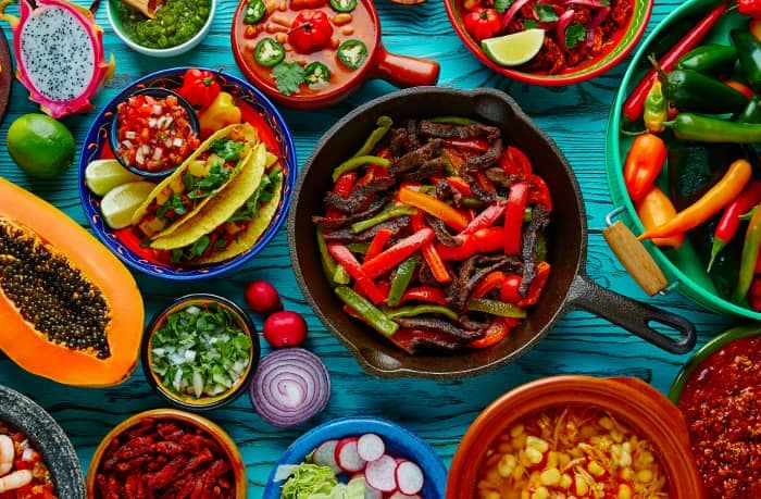 colorful mexican food