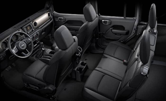 interior cabin of 2019 Jeep Wrangler
