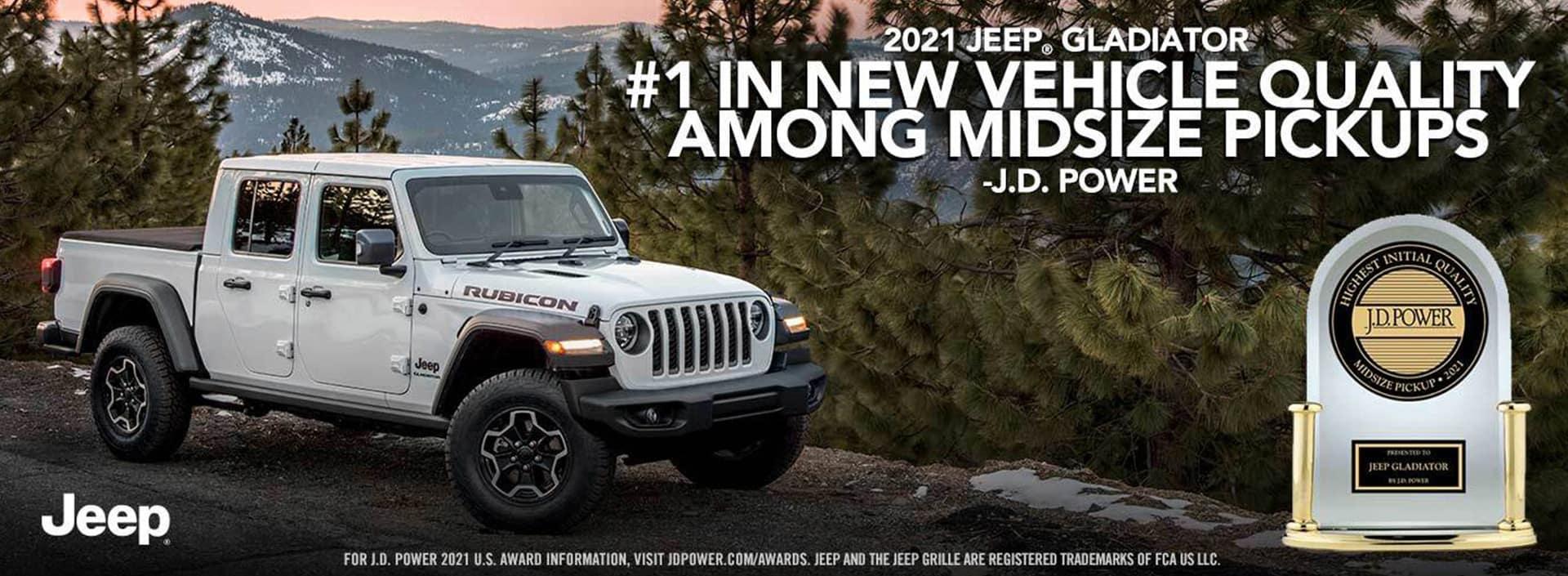 Jeep Gladiator JD Power Award
