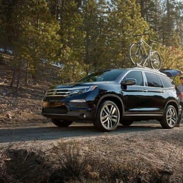 2018 Honda Pilot on forest road
