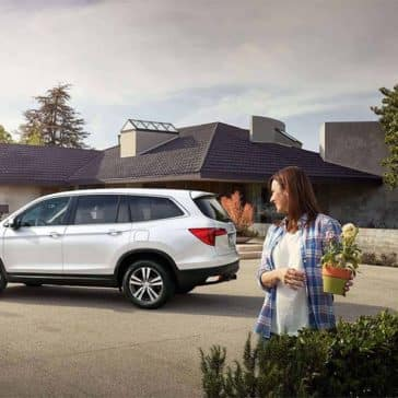 2018 Honda Pilot parked at home