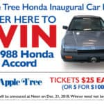 Apple Tree Honda raffle info for 1988 Honda Civic