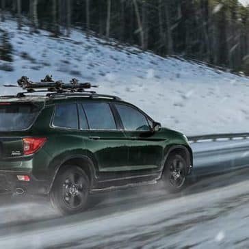 2019 Honda Passport Driving in Snow