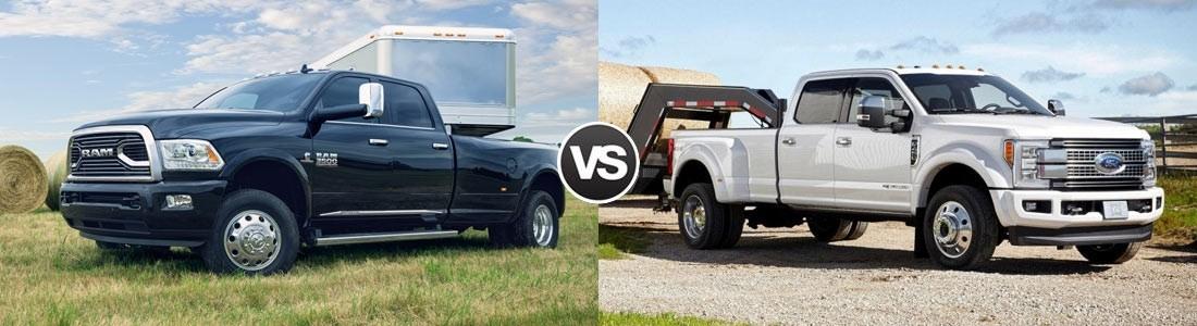2017 Ram 3500 vs. Ford F-350