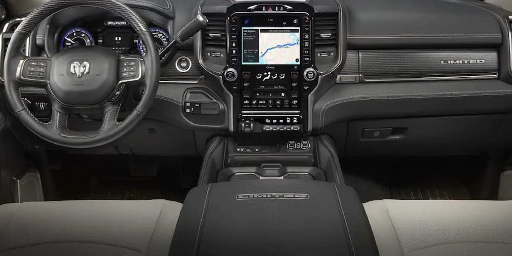 2019 ram 2500 front interior and dash