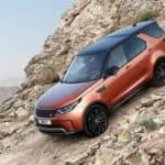 2018 Land Rover Discovery off-roading on mountian