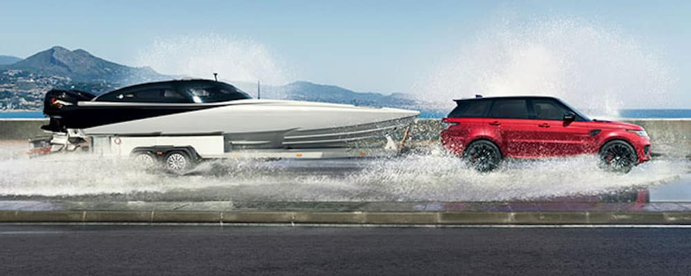 2019 range rover sport towing boat