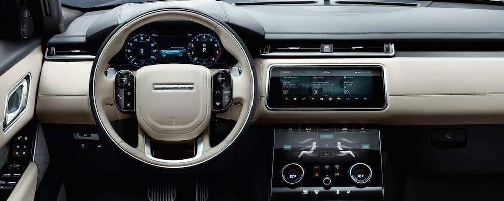 2019 range rover velar steering wheel and dash
