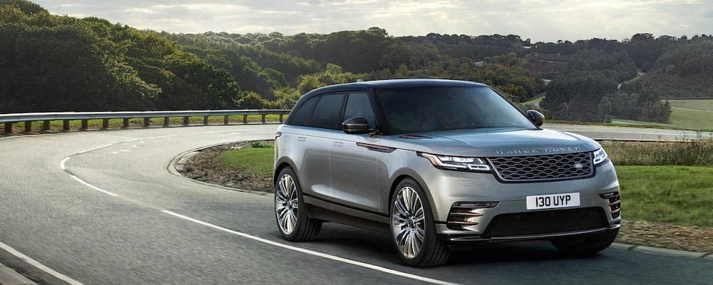 2019 range rover velar silver exterior with copper accents