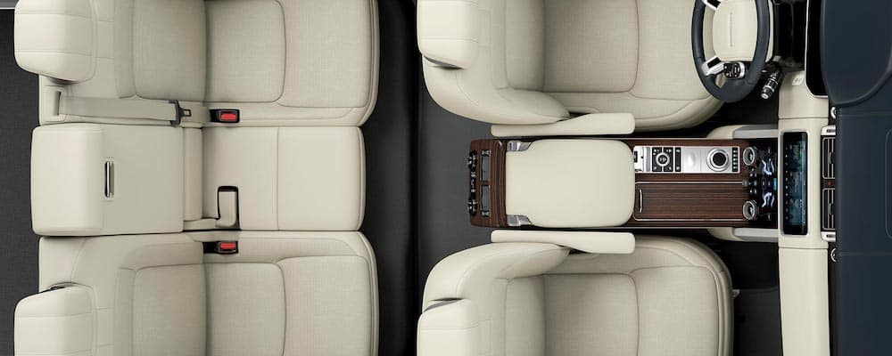 aerial view of 2019 range rover seats