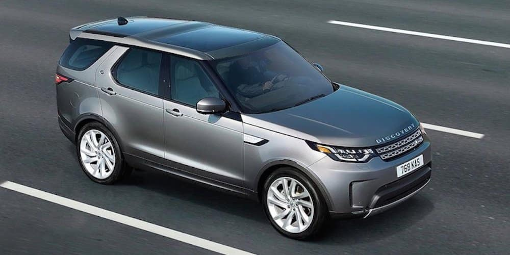 2019 land rover discovery driving on highway