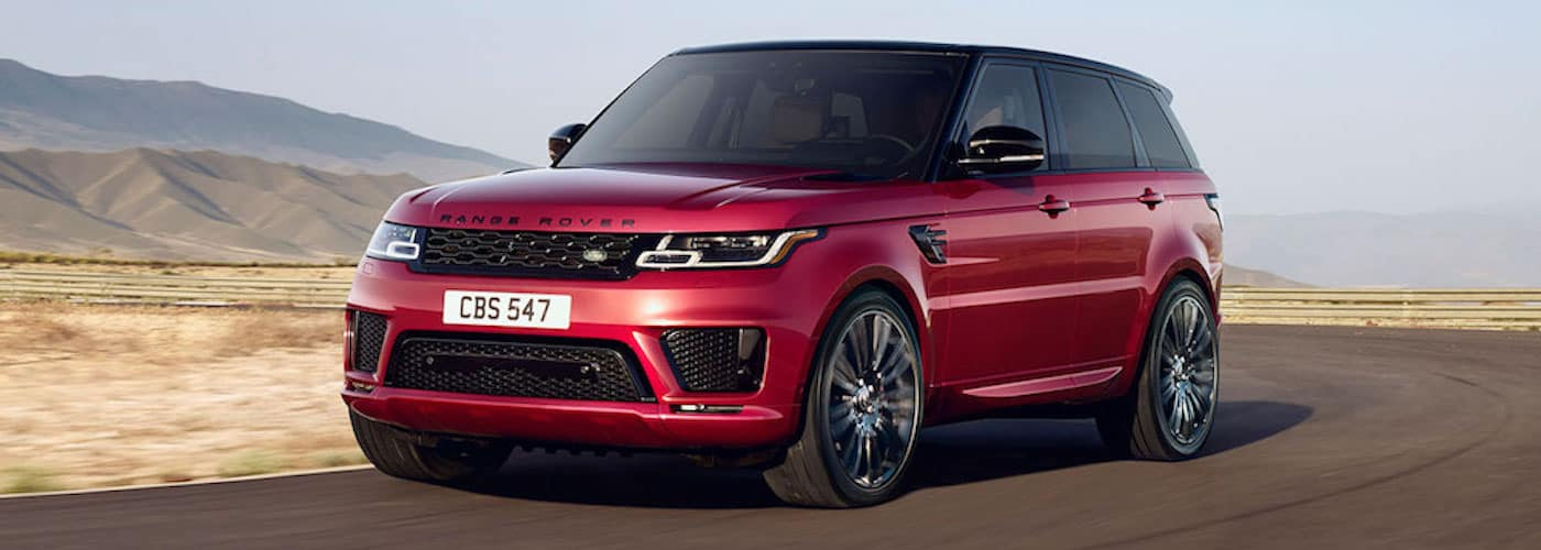 2019 range rover sport driving on highway