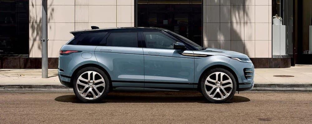 Blue 2020 Range Rover Evoque Parked on Street