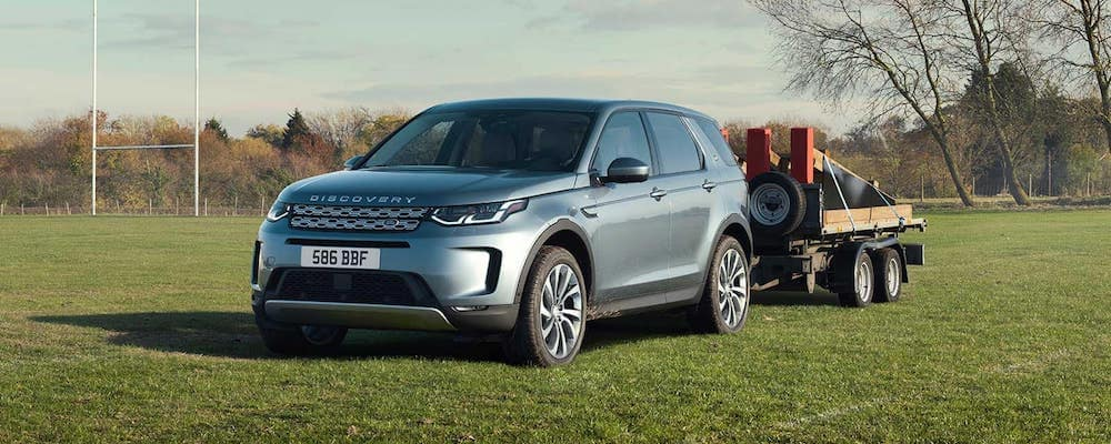 Light Blue 2020 Land Rover Discovery Sport Towing