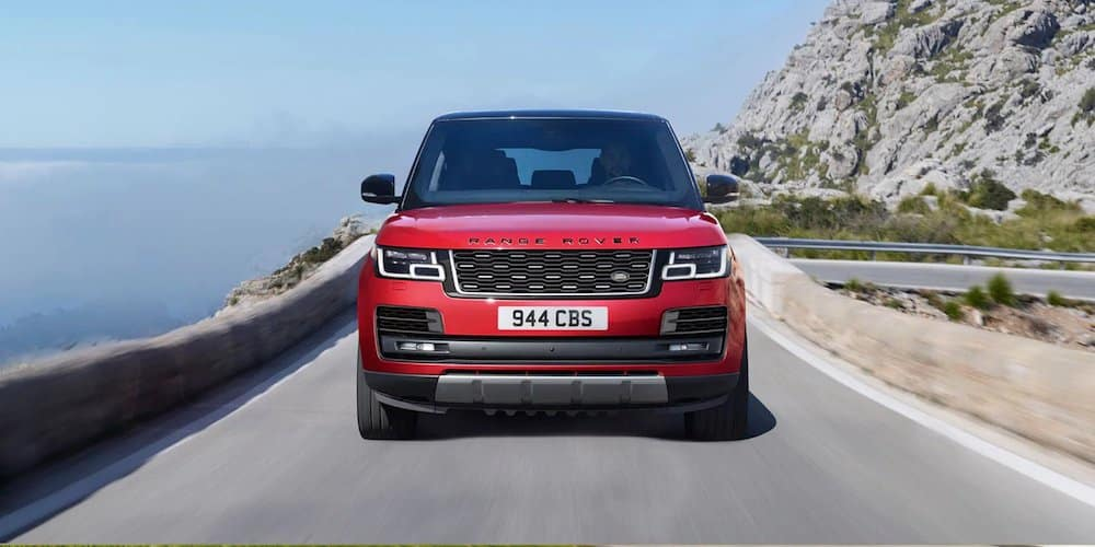 Red 2020 Range Rover on Highway