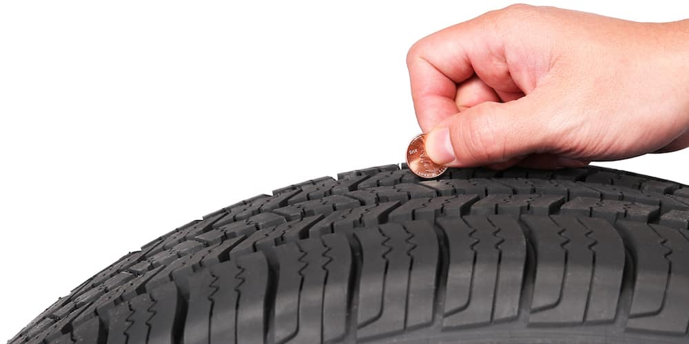 Checking Tire Tread with Penny