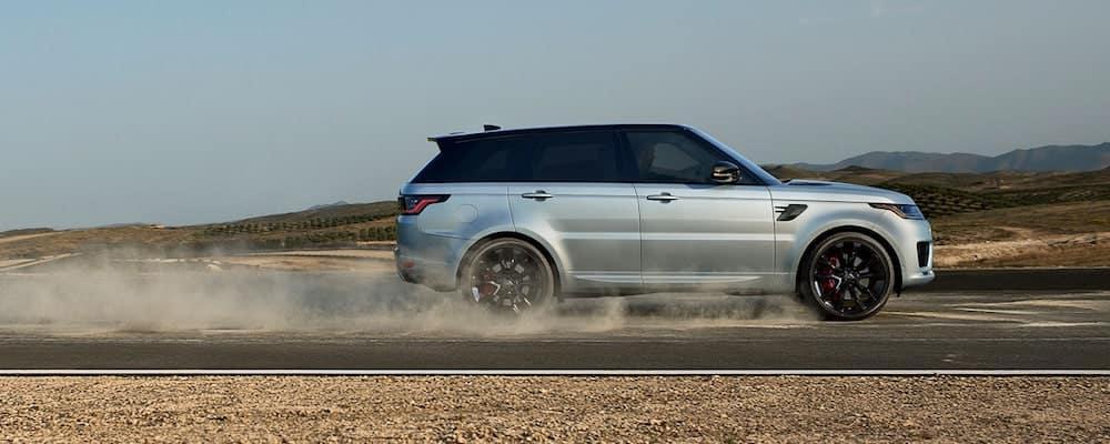 Silver 2020 Range Rover Sport on Open Highway