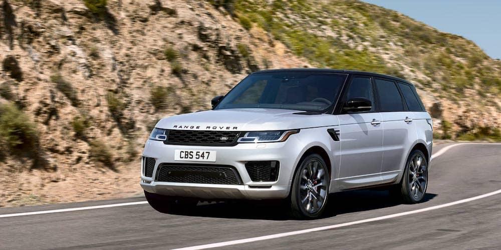 White 2020 Range Rover Sport on Highway Corner