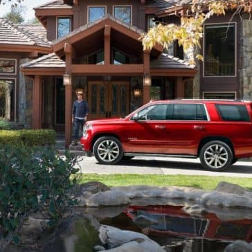 2019 Chevy Tahoe red
