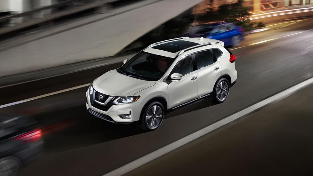 2017 Nissan Rogue on the highway