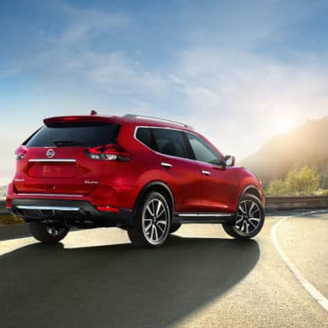2017 Nissan Rogue approaching the sunset