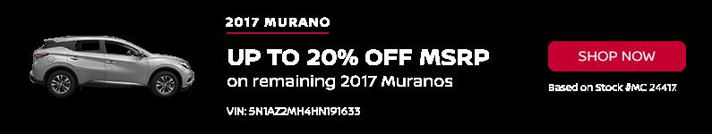 Murano January Offer Beau Townsend Nissan
