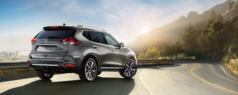 Silver 2018 Nissan Rogue on the highway