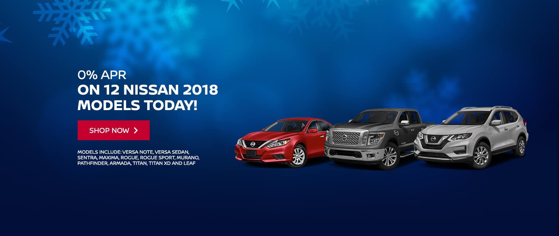 0% APR on 12 2018 Nissan Models
