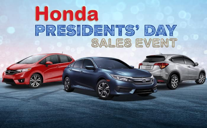 Honda Presidents' Day Sales Event