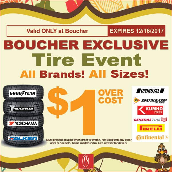 Service Specials November 2017 Boucher Auto Group