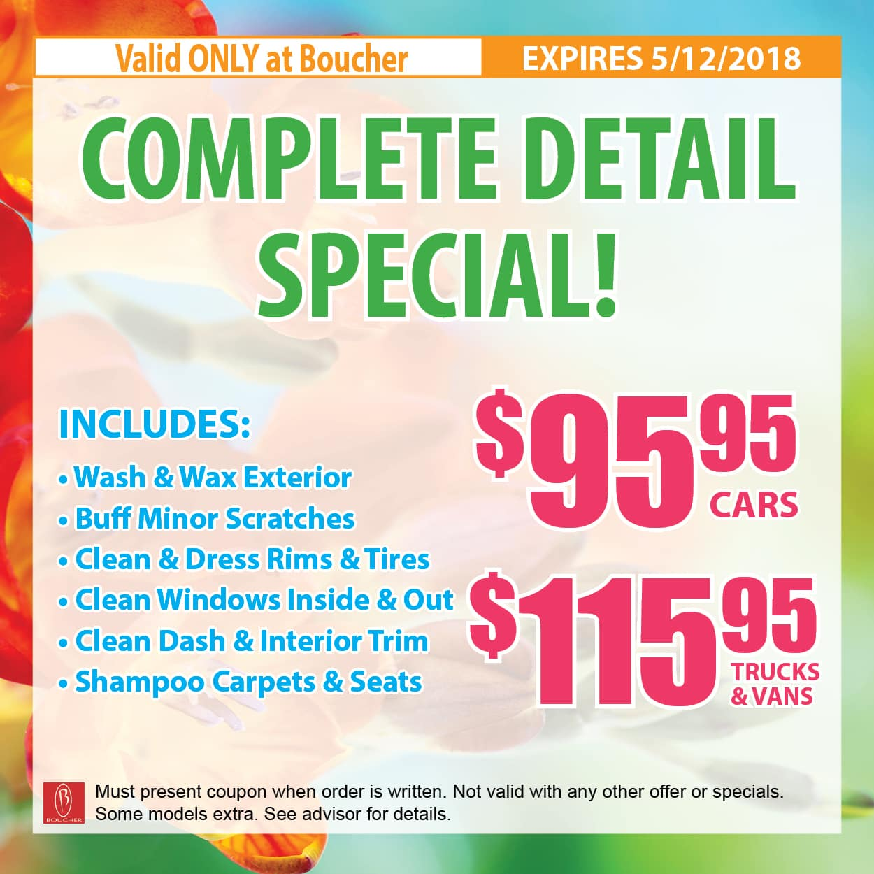 Service Coupons April 2018 Milwaukee Wisconsin