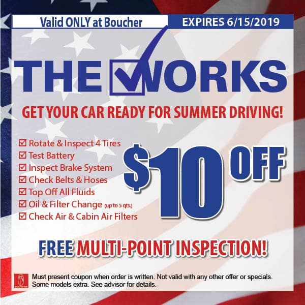 Service Coupons May 2019 Milwaukee Wisconsin Boucher