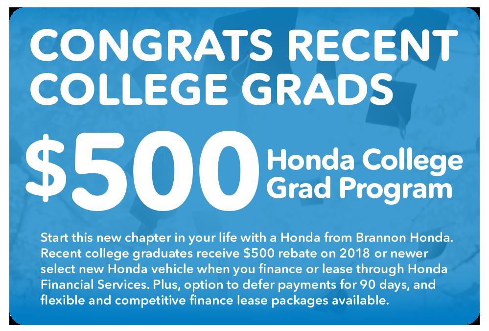honda college grad offer