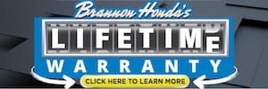Brannon Honda Lifetime Warranty Banner