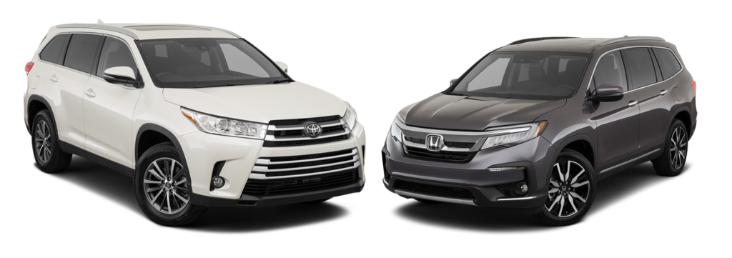 2019 Highlander vs 2019 Honda Pilot