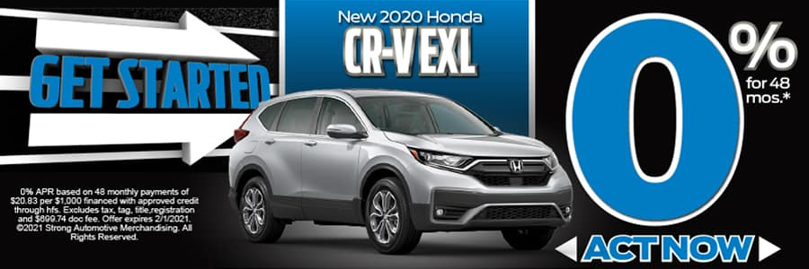 2020 CR-V EX-L 0% APR FOR 48 Mos* Act Now!
