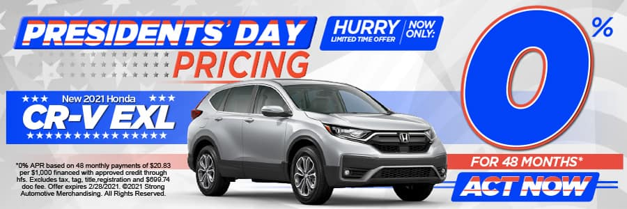 2021 CR-V EX-L 0% APR FOR 48 Mos* Act Now!