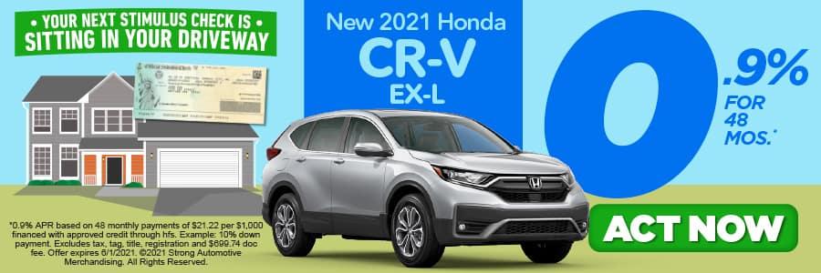 NEW 2021 CR-V EX-L 0.9% APR/ 48 MONTHS
