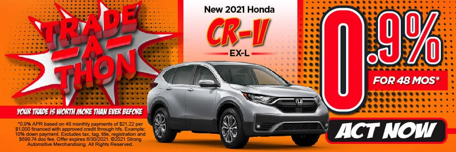 New 2021 Honda CR-V - 0.9% APR for 48 months - Act Now
